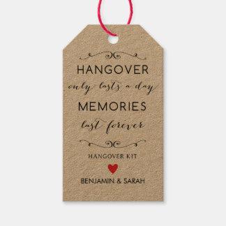 Hangover Kit Tags / Wedding Favor Tags