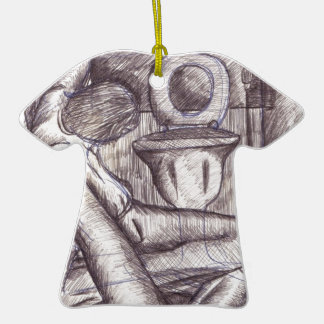 Hangover Double-Sided T-Shirt Ceramic Christmas Ornament