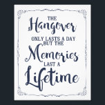 "hangover party sign, navy wedding sign<br><div class=""desc"">hangover party sign,  navy wedding sign</div>"