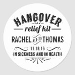 Hangover Relief Kit | Apothecary Wedding Favor Classic Round Sticker