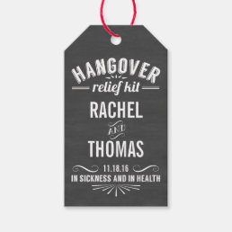 Hangover Relief Kit | Chalkboard Wedding Favor Gift Tags