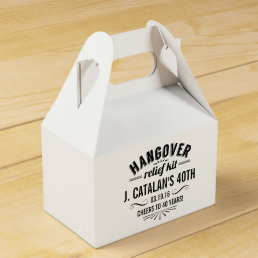 Hangover Relief Kit | Vintage Style Birthday Party Favor Box