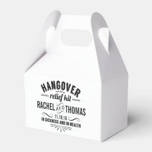 Hangover Relief Kit | Vintage Style Wedding Favor Box