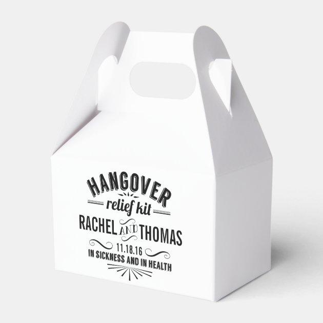 Hangover Relief Kit Vintage Style Wedding Favor Box