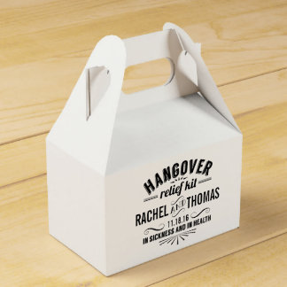 Hangover Relief Kit | Vintage Style Wedding Favor Boxes