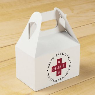 Hangover Relief Kit | Wedding Favor Box