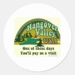 Hangover Valley USA Classic Round Sticker