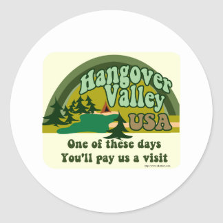 Hangover Valley USA Classic Round Sticker