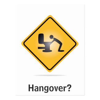 Hangover vertical text funny postcard