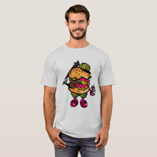 Hangry Gangster Cheese Burger Bastard T-Shirt