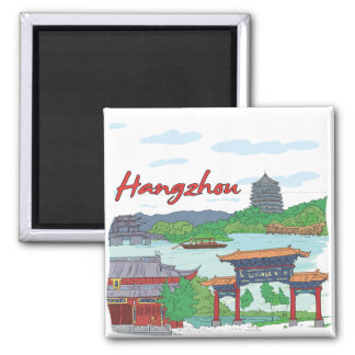 Hangzhou 2 Inch Square Magnet