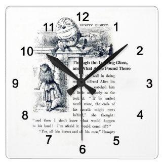 hanhu ゚ tei ta ゙ nhu ゚ tei square wall clock