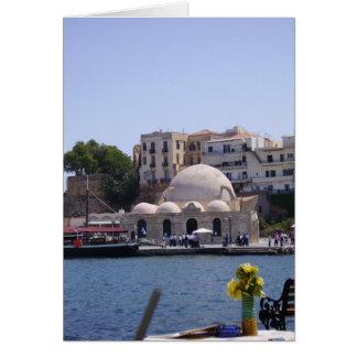 Hania, Crete inner harbor Greeting Card