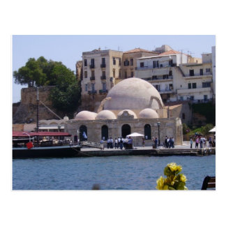 Hania, Crete inner harbor Postcard
