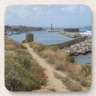 Hania prácticos de costa de Creta Posavasos De Bebidas