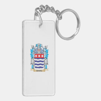 Haning Coat of Arms - Family Crest Double-Sided Rectangular Acrylic Keychain