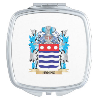 Haning Coat of Arms - Family Crest Mirrors For Makeup