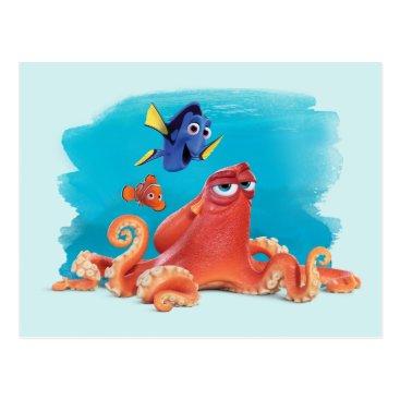 Disney Themed Hank, Dory & Nemo Postcard