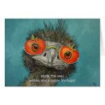 ¡Hank el emu le desea un feliz cumpleaños! tarjeta