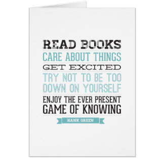 Hank Green Quote Greeting Cards