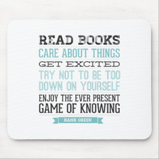 Hank Green Quote Mouse Pads