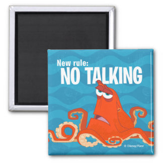 Hank | New Rule...No Talking 2 Inch Square Magnet