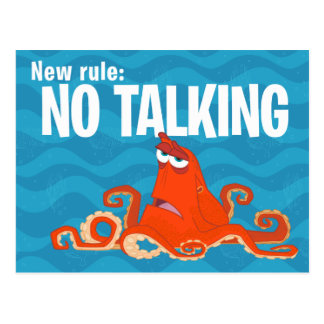 Hank | New Rule...No Talking Postcard
