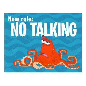 Disney Themed Hank | New Rule...No Talking Postcard