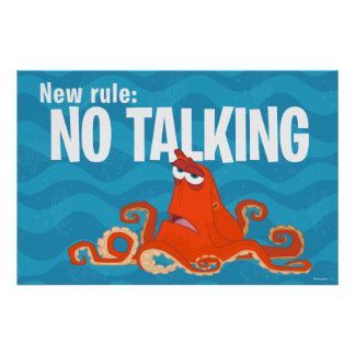 Hank | New Rule...No Talking Poster