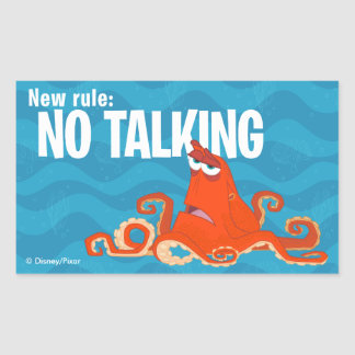 Hank | New Rule...No Talking Rectangular Sticker