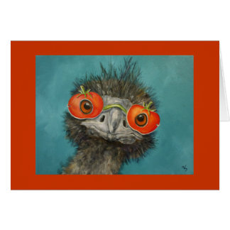 Hank the Emu card
