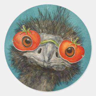 hank the emu stickers