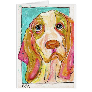 hank the hound dog card