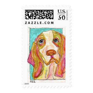 hank the hound dog postage