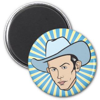 Hank Williams magnet (round)