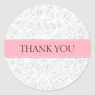 hank You Wedding Stickers Favours Pink