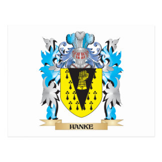 Hanke Coat of Arms - Family Crest Postcard