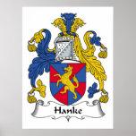 Hanke Family Crest Poster