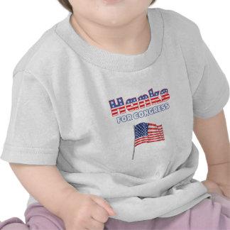 Hanks for Congress Patriotic American Flag Design Tshirt