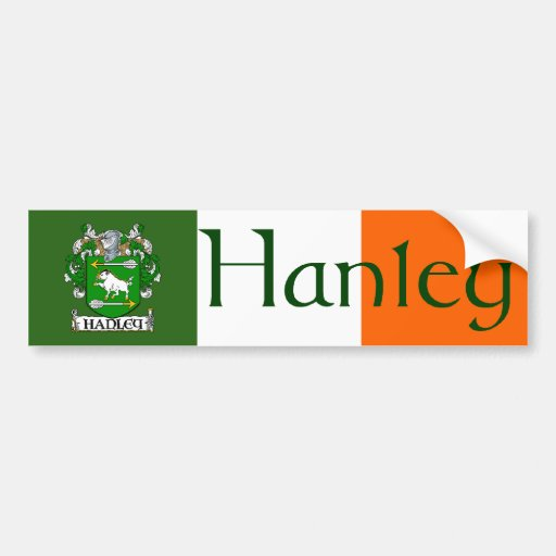 Hanley Coat of Arms Bumper Sticker