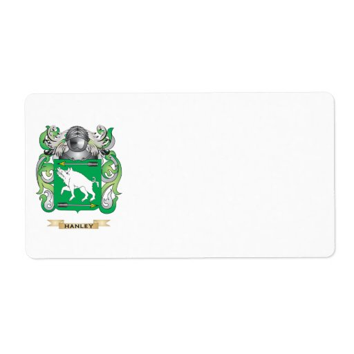 Hanlon Coat of Arms (Family Crest) Shipping Label
