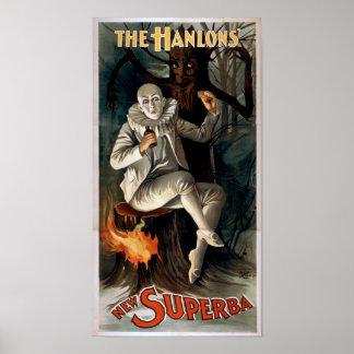 HANLON S New Superba VAUDEVILLE Act Poster