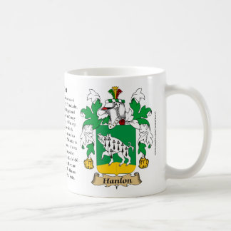Hanlon, the Origin, the Meaning and the Crest Coffee Mug