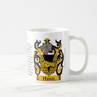 Hann, el origen, el significado y el escudo taza de café