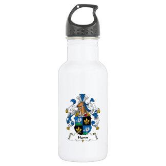 Hann Family Crest 18oz Water Bottle