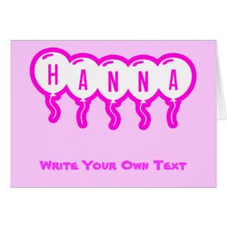 Hanna Card