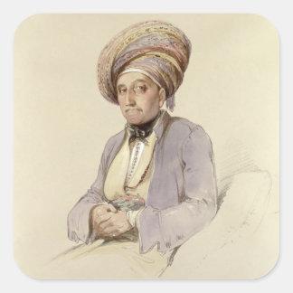 Hanna - Griego de Antioch, 1852 Pegatina Cuadrada