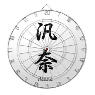 Hanna tradujo a símbolos japoneses del kanji tablero dardos