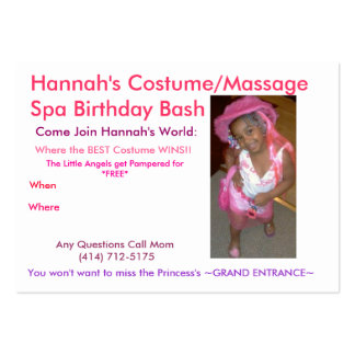 hannah2, Any Questions Call Mom (414) 712-5175,... Large Business Card