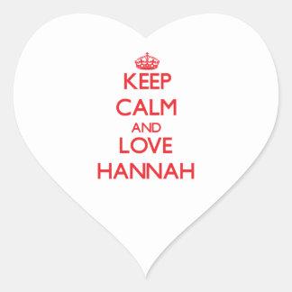 HANNAH5690.png Pegatina En Forma De Corazón